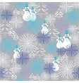 christmas seamless pattern with snowman and vector image