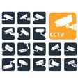 security camera icons video surveillance vector image