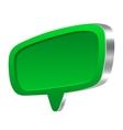 Green 3d speech bubble vector image