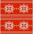 red and white knitted background vector image