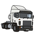 White towing truck vector image