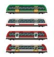 Set of railbuses vector image