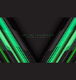 abstract green grey cyber geometric line vector image vector image