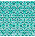 abstract waves simple seamless blue tone pattern vector image vector image