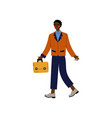 african american business man walking with vector image vector image
