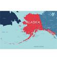 alaska state political map united states vector image vector image