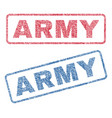 army textile stamps vector image vector image