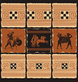 banner on theme ancient greece with tiles vector image