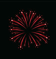 beautiful red firework bright firework isolated vector image vector image