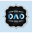 Black chalk board emblem with word DAD vector image vector image
