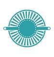 blue label abstract art deco emblem vector image vector image