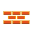 bricks wall construction icon vector image vector image