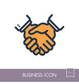 business handshake contract agreement icon vector image vector image