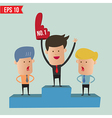 Business man on winner podium - - EPS10 vector image vector image