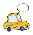 cartoon car with thought bubble vector image
