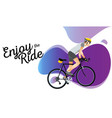 cartoon sportsman bicyclist in helmet riding vector image vector image
