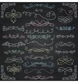 Chalk Drawing Vintage Hand Drawn Swirls vector image vector image