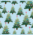 christmas winter landscape seamless pattern and vector image vector image