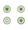 circle emblem design vector image vector image