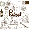 collection portugal icons vector image vector image