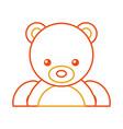 cute bear teddy icon vector image vector image
