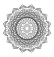 decorative mandala design 3005 vector image vector image