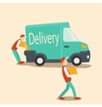 Delivery car cartoon vector image