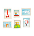 Different post stamps set vector image