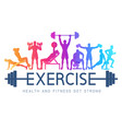 exercises conceptual design silhouette background vector image vector image