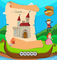 Fairytale theme with castle and characters vector image vector image