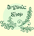 Flat label collection of 100 organic product and vector image vector image