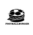 football burger vector image
