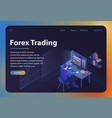 forex trading isometric vector image vector image