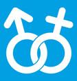 gender symbol icon white vector image vector image