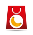 grocery shopping bag banana fruit design vector image vector image