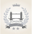 Grunge London icon laurel weath vector image vector image