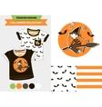 Halloween fashion set vector image