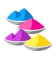 happy holi paint vector image