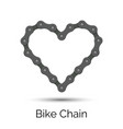 heart created from a bicycle chain bike chain vector image vector image