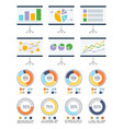 infographic and infocharts on whiteboards set vector image vector image