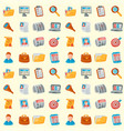 job search seamless pattern background vector image