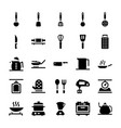 kitchen accessories icons pack vector image