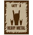 let s heavy metal hand gesture horn rock vector image vector image