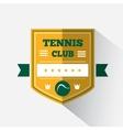 Logo design tennis vector image