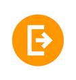 logout exit icon symbol vector image vector image