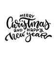 merry christmas and happy new year - 2022 script vector image