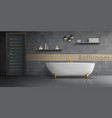 mockup of modern bathroom interior vector image vector image