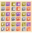 Modern collection flat icons with shadow economic vector image vector image
