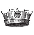 naval crown vintage engraving vector image vector image