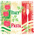 pasta pattern - Vintage style vector image vector image